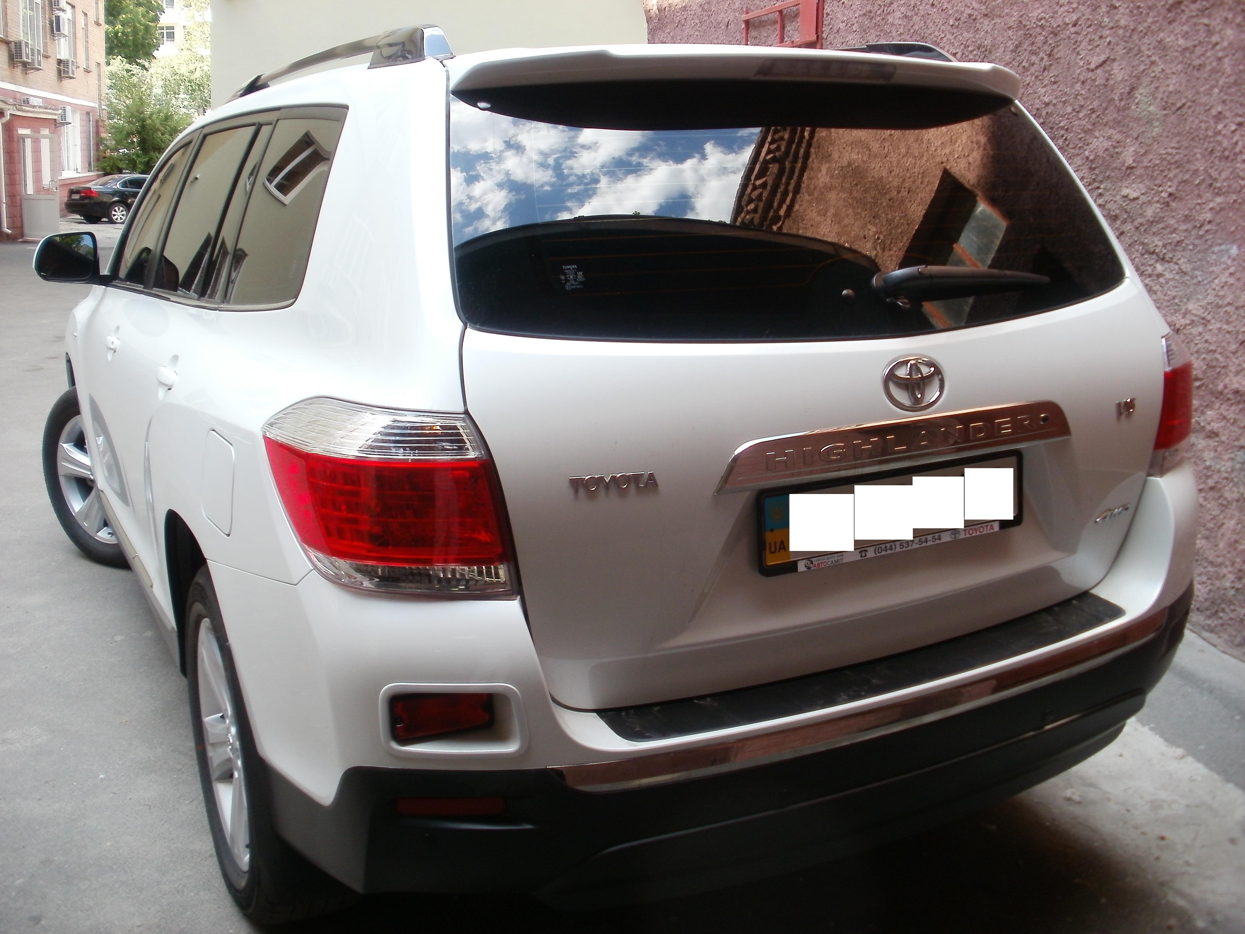 тонировка авто киев цена Toyota Highlander